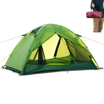 PUSH! 戶外登山休閒用品Silicone超強防水PU10000+UPF30+雙層雙人四季帳篷