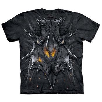 【摩達客】預購(大尺碼)-美國進口The Mountain 巨龍臉 T恤