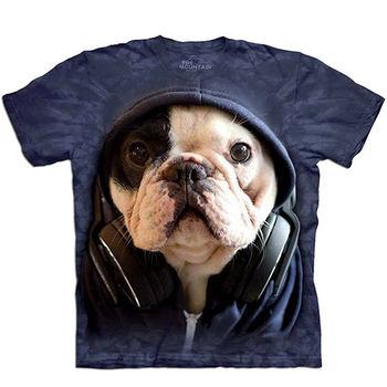 【摩達客】預購(大尺碼)-美國進口The Mountain DJ法國鬥牛犬 T恤