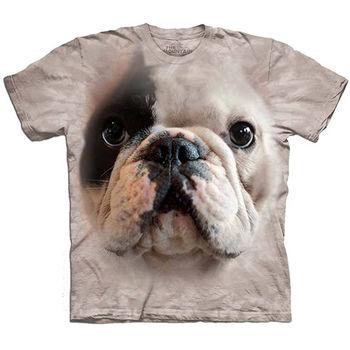 【摩達客】預購(大尺碼)-美國進口The Mountain 曼尼法國鬥牛犬 T恤