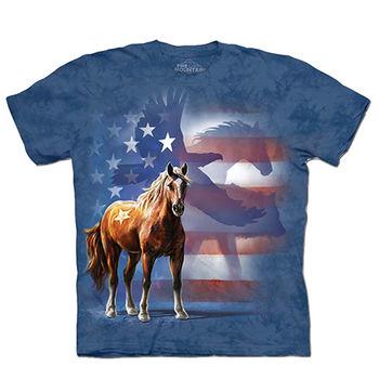 【摩達客】預購(大尺碼)-美國進口The Mountain 動物影旗 T恤