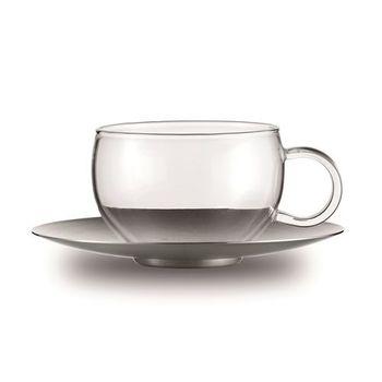 JENAER GLAS GOOD MOOD 系列茶杯含不鏽鋼茶碟2入