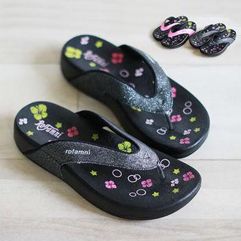 【Pretty】若梵妮_德國PU環保素材夾腳健走鞋-桃紅色、黑色