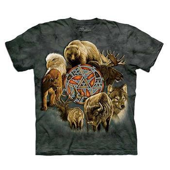 【摩達客】預購(大尺碼)-美國進口The Mountain 動物精神環 T恤