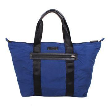 COACH-子母收納購物包(藍底黑提袋)