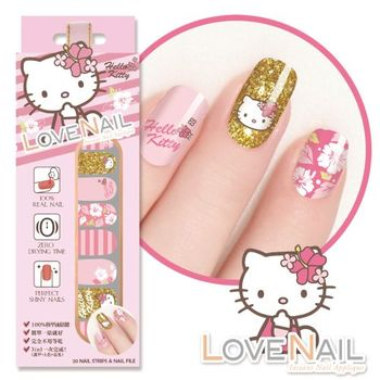 【LOVE NAIL】Hello Kitty x LOVE NAIL限定版指甲油貼-扶桑花戀語