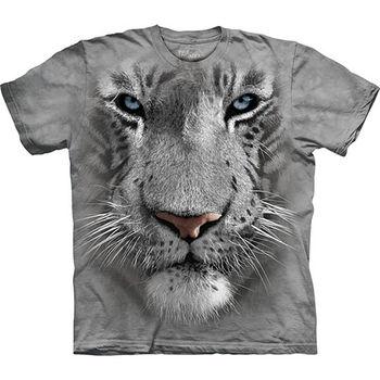 【摩達客】預購(大尺碼)-美國進口The Mountain 白虎臉 T恤