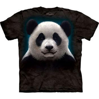 【摩達客】預購(大尺碼)-美國進口The Mountain 熊貓頭 T恤