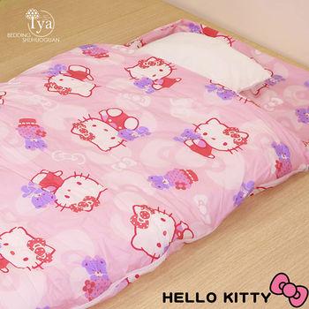 【IYA艾雅】 HELLO KITTY 粉紅加大兒童兩用睡袋