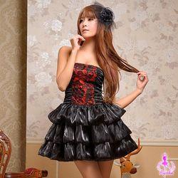 薇珍妮Ayoka暗夜紅莓!三件式派對角色扮演服