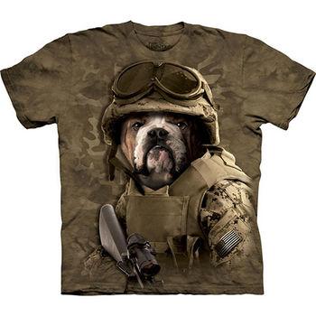 【摩達客】預購(大尺碼)-美國進口The Mountain 迷彩鬥牛犬T恤