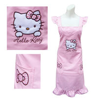 【Hello Kitty】粉紅色花邊荷葉袖圍裙KT-0907B