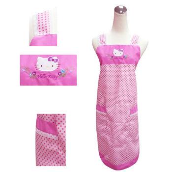 【Hello Kitty】圓點蕾絲圍裙KT-0750C(粉紅‧紫圓點)