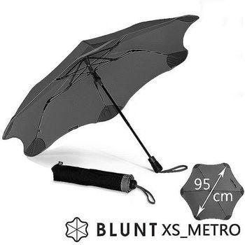 【紐西蘭BLUNT 保蘭特】抗強風 防反傘 抗UV 折傘(紳士灰)