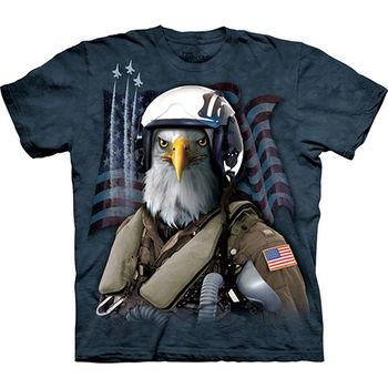 【摩達客】預購(大尺碼)-美國進口The Mountain 老鷹空軍 T恤