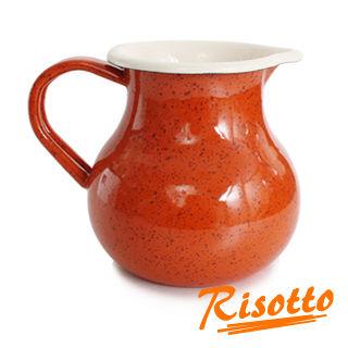【RISOTTO】復古典雅琺瑯牛奶壺(陽光橙橘)