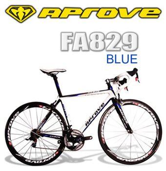 APROVE FA829 旗鑑級RED碳纖維公路自行車(藍白)