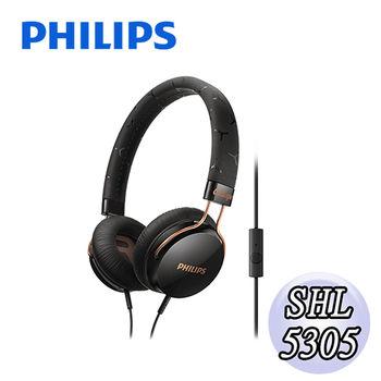 【PHILIPS 飛利浦】SHL5305頭戴式耳機麥克風(酷炫黑)