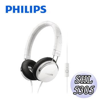 【PHILIPS 飛利浦】SHL5305頭戴式耳機麥克風(經典白)