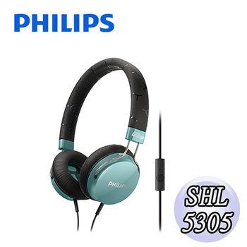 【PHILIPS 飛利浦】SHL5305頭戴式耳機麥克風(清爽綠)