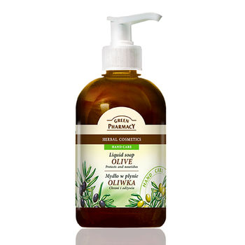 【波蘭Green Pharmacy】橄欖修護天然草本潔手乳(465ml)
