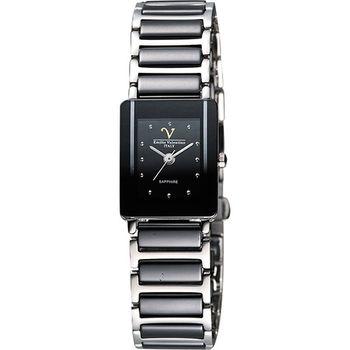 Valentino時尚質感陶瓷女錶(V367491黑小)
