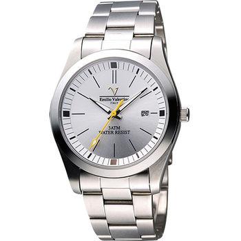 Valentino 輝煌年代經典腕錶(SM6405S銀)