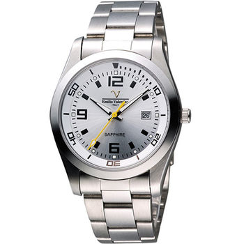 Valentino 輝煌年代經典腕錶SM6405S銀數