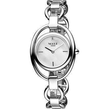 VOGUE Tornabuoni 馬銜鍊手鍊錶-天然珍珠貝x銀2V1407-141S-M
