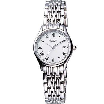 LONGINES Lyre 琴韻 羅馬美人腕錶-白/25mm(L42594116)