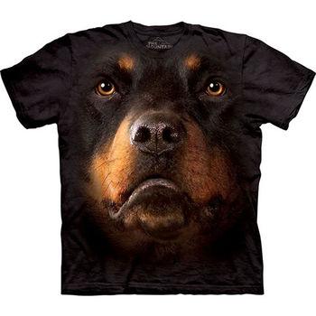 【摩達客】預購(大尺碼)-美國進口The Mountain 挪威納犬臉 T恤