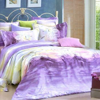 【菲德美Phiderma】紫冰幽幽天絲棉雙人四件式兩用被床包組