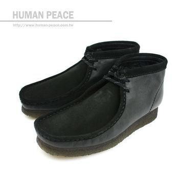 Clarks WALLABEE ROCKY 皮革 袋鼠靴 戶外休閒鞋 黑 男款 no503