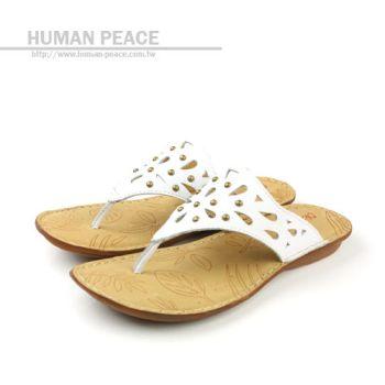 Kimo 皮革 舒適 透氣 涼鞋 戶外休閒鞋 白 女款 no330