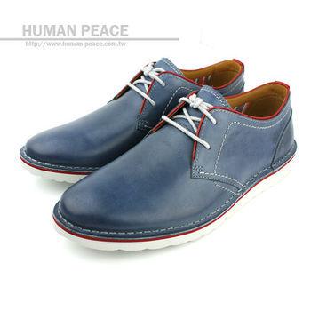 Clarks MANOR HALL 皮革 舒適 紳士 休閒鞋 藍 男款 no461