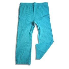 100 %棉 純白/寶藍條紋七分褲 (C003)