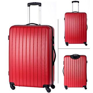 【AOU微笑旅行】28吋旅行箱 防刮行李箱 TSA海關鎖(紅色90-008A)