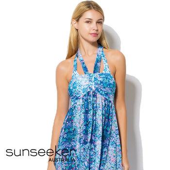 【sunseeker 泳裝】海洋度假系列花草風女洋裝 (84021)