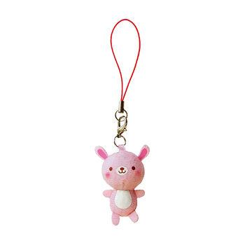 【UNIQUE】動物樂園迷你公仔吊飾。粉紅兔
