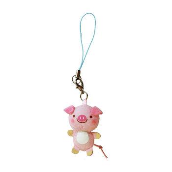 【UNIQUE】動物樂園迷你公仔吊飾。粉紅豬