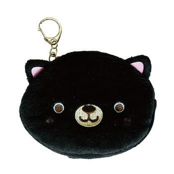【UNIQUE】動物樂園毛絨零錢包。小黑貓
