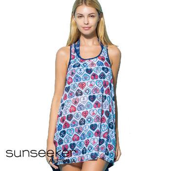 【sunseeker 泳裝】海洋度假系列花草風女洋裝 (84023)