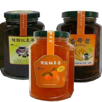 【朝日農業】秋冬限定版-手作果醬茶450g 任選3入組 (柚子/桂圓紅棗/薑母)
