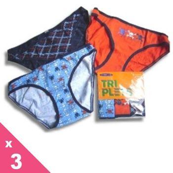 【西班牙PRINCESA】(8861sst)女性低腰 藍橘黑骷髏棉三角褲3件/組(M/L)