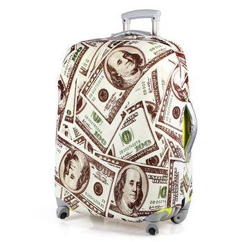 PUSH! SHOW ME MONEY行李箱彈力保護防塵套24吋(適合22-26吋)
