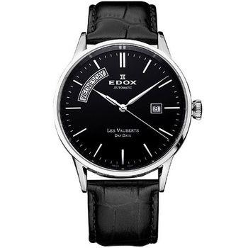 EDOX Les Vauberts 自動上鍊日曆機械錶83007.3NIN