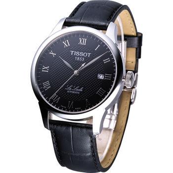 TISSOT 力洛克經典機械皮帶腕錶 T41142353
