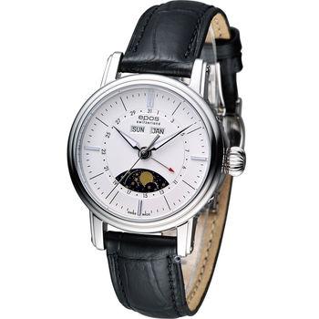 epos Emotion 月相盈虧 機械腕錶 4391.832.20.50.15FB 白+黑皮