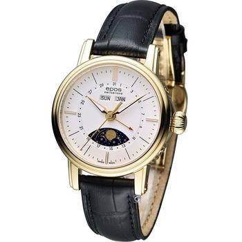 epos Emotion 月相盈虧 機械腕錶 4391.832.22.50.15FB 白+金色