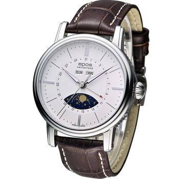Epos 月相多功能典藏機械腕錶 3391.832.20.50.77FB 咖啡皮